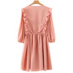 robe courte rose broderies volants mode femme la selection parisienne
