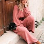 combinaison vieux rose femme mi saison collection septembre 2020 eshop mode en ligne pas cher 5
