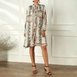 robe oversize à manches longues imprimée chic femme eshop mode 1