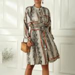 robe oversize à manches longues imprimée chic femme eshop mode 4