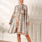 robe oversize à manches longues imprimée chic femme eshop mode 6