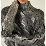 Pull métallisé gris demi col roulé eshop mode en ligne 4