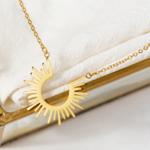 collier pendentif doré boho chic soleil bijou fantaisie femme pas cher en ligne 3
