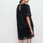 petite robe noire courte à paillettes sequins fêtes fin dannée femme en ligne pas cher la selection parisienne 1