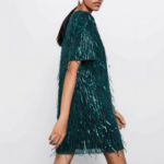 robe courte à paillettes sequins verte fêtes fin dannée femme en ligne pas cher la selection parisienne 2