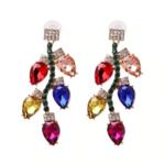 boucles doreilles fantaisie pendantes colorées chic femme pas cher en ligne strass