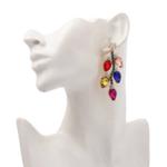 boucles doreilles fantaisie pendantes colorées chic femme pas cher en ligne tendance