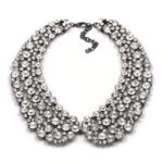collier chocker perles fantaisie col claudine bijou femme en ligne silver strass
