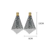 boucles doreilles fantaisies pendantes noires à strass cristal retro chic en ligne pas chères pour femme 1