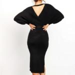robe portefeuille midi noire mode femme hiver en ligne la selection parisienne 4