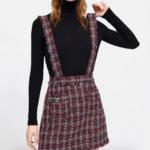 robe salopette tweed rouge femme tendance pas cher la selection parisienne en ligne 1