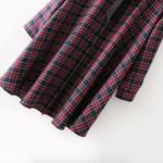 Robe peplum rouge et noire chic vintage retro femme hiver en ligne 3