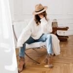pull à grosses mailles blanc femme hiver tendance mode en ligne la selection parisienne 1