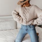 pull à grosses mailles beige femme hiver tendance mode en ligne la selection parisienne