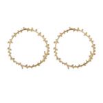 boucles doreilles dorées pendantes feuille dolivier créoles bijoux fantaisie la selection parisienne 1
