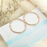 boucles doreilles dorées pendantes feuille dolivier créoles bijoux fantaisie la selection parisienne 2