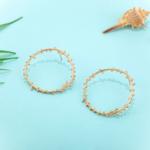 boucles doreilles dorées pendantes feuille dolivier créoles bijoux fantaisie la selection parisienne 3