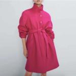 manteau fushia laine pour femme rose eshop mode vêtements tendance hiver la selection parisienne