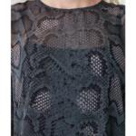 robe midi imprimée python femme hiver vetement tendance 3