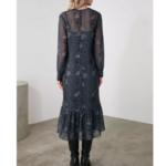 robe midi imprimée python femme hiver vetement tendance 6
