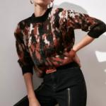 pull imprimé marron noir pour femme tendance en ligne 2