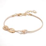 ensemble bracelets fantaisie rose doré perle femme bijoux tendance en ligne pas chers 1