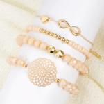 ensemble bracelets fantaisie rose doré perle femme bijoux tendance en ligne pas chers la selection parisienne
