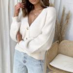 cardigan blanc mohair femme gilet hiver vetement pas cher tendance en ligne 1