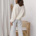 cardigan blanc mohair femme gilet hiver vetement pas cher tendance en ligne 3