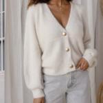 cardigan blanc mohair femme gilet hiver vetement pas cher tendance en ligne 5