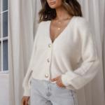 cardigan blanc mohair femme gilet hiver vetement pas cher tendance en ligne 6