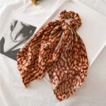 chouchou foulard foulchie imprimé léopard accessoire cheveux tendance original