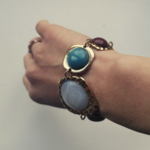 bracelet en cuivre pierres colorées bijou original bohème femme la selection parisienne 2