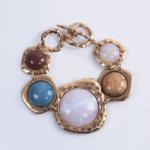 bracelet en cuivre pierres colorées bijou original bohème femme la selection parisienne idée cadeau boho