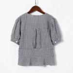 blouse imprimée vichy carreaux tendance femme pas chère