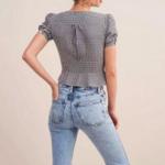 blouse imprimée vichy carreaux tendance femme printemps été 2021