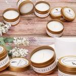 Bougie dorée naturelle gold parfumée chic