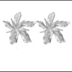 Boucles doreilles grande fleur argentées St Germain