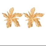 Boucles doreilles grande fleur dorée St Germain