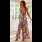 Combinaison imprimé floral femme violet 4
