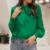 blouse verte chic femme