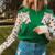Pull sweat vert lion leopard dessin mode femme automne hiver 2020 en ligne
