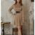 robe courte d'hiver beige ceinturée à manches longues chic sophistiquée pas cher femme en ligne la selection parisienne 6