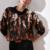 pull imprimé marron noir pour femme tendance en ligne