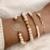ensemble bracelets fantaisie rose doré perle femme bijoux tendance en ligne pas chers