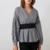 blouse imprimée vichy noir et blanche la selection parisienne