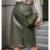 jupe crayon kaki simili cuir tendance femme