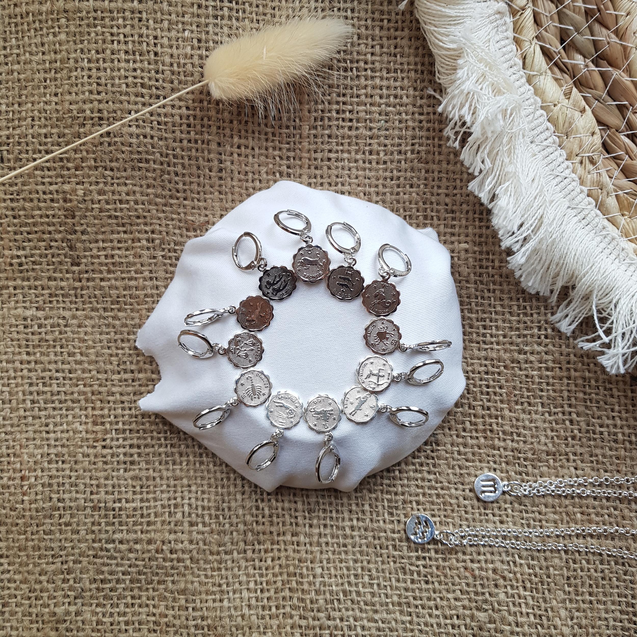 Mini créoles Astro silver