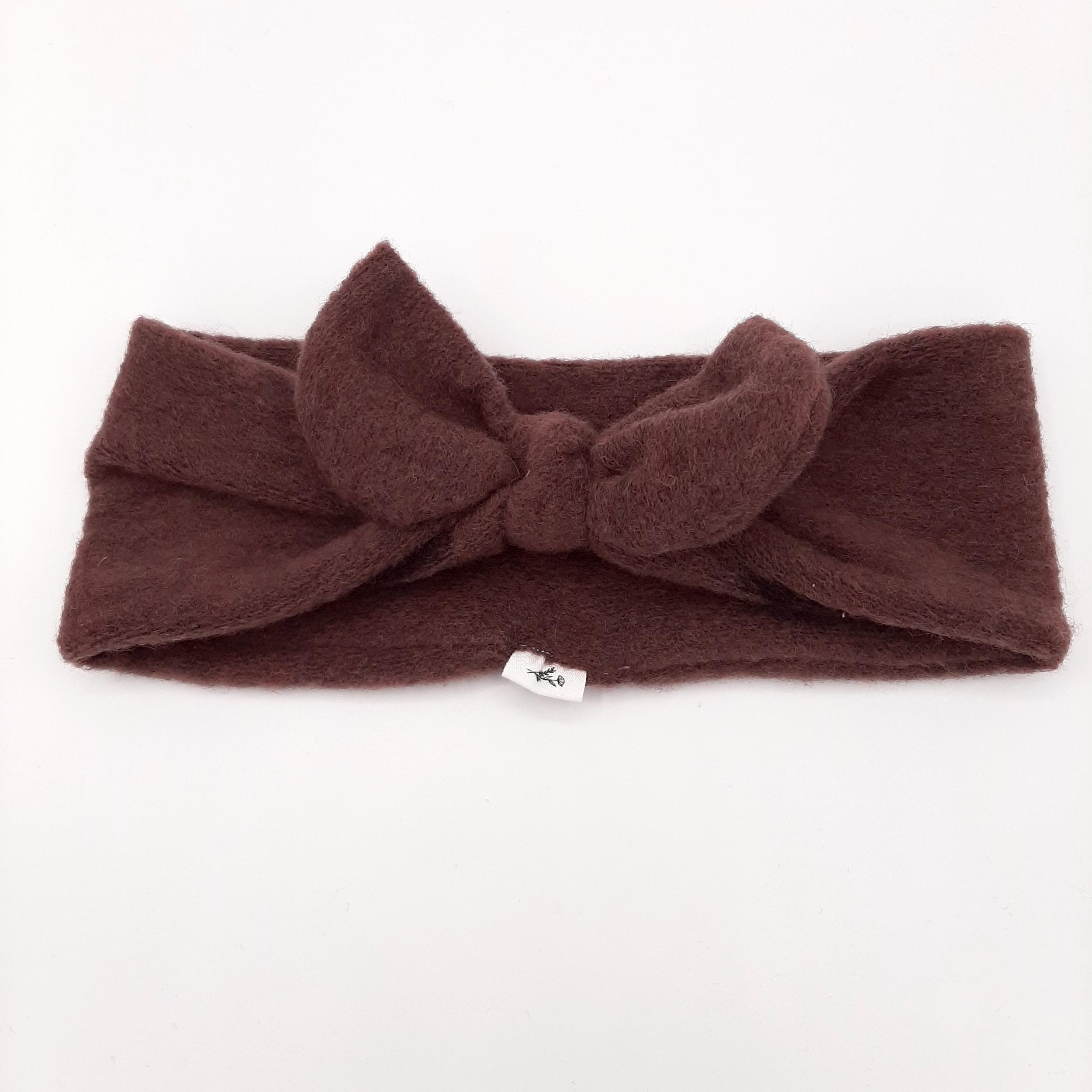 Bandeau Plum Wool