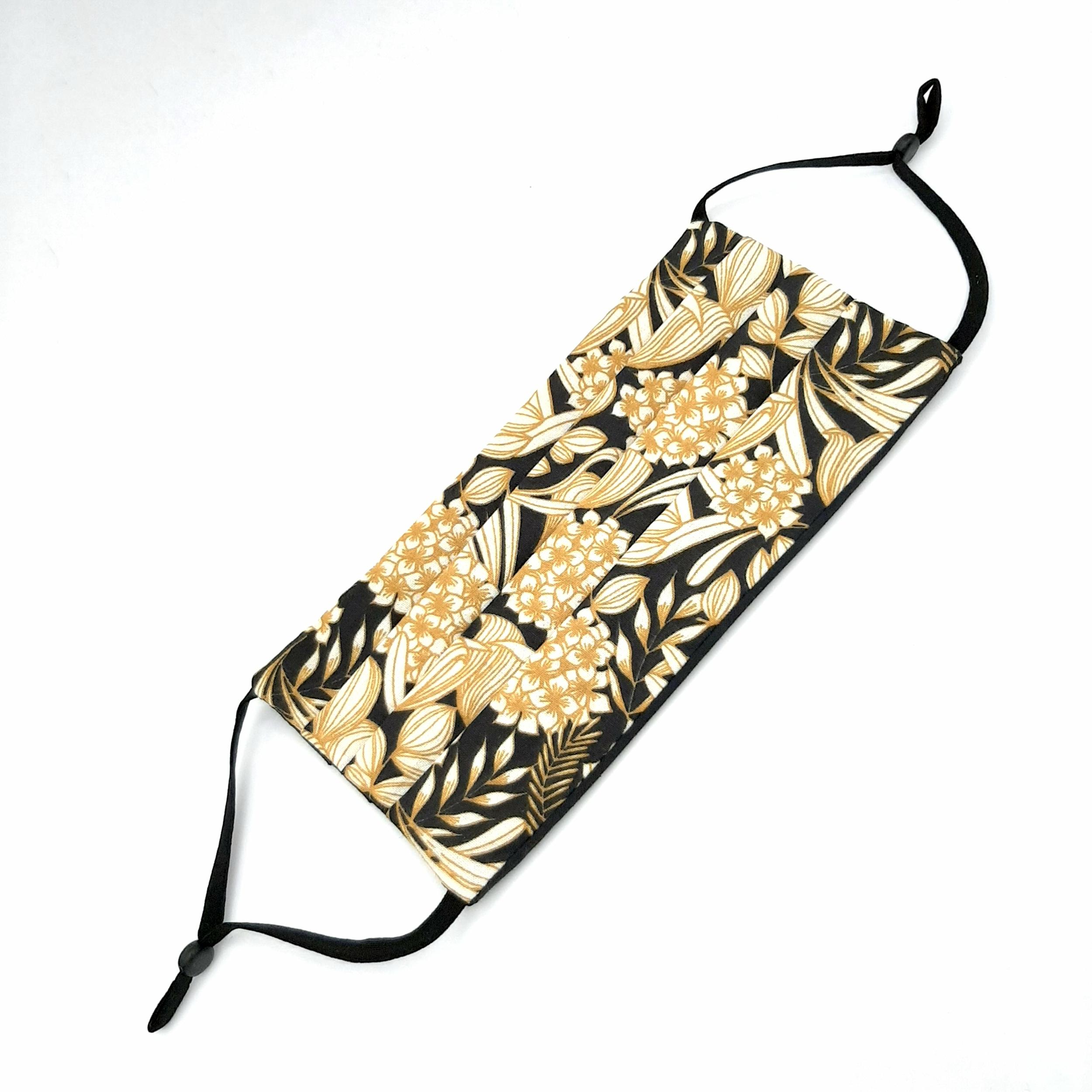 Masque Golden Flowers Black